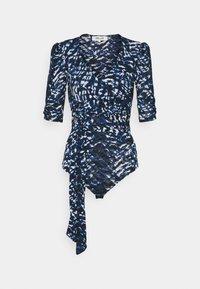 Diane von Furstenberg - ABBIE BODYSUIT - Print T-shirt - blue - 0