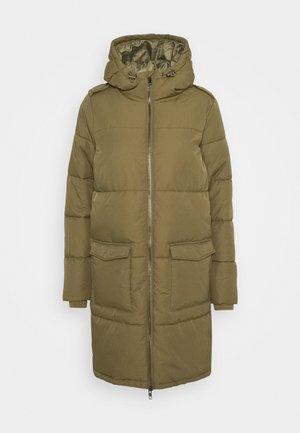 OBJZHANNA LONG JACKET  - Winter coat - burnt olive