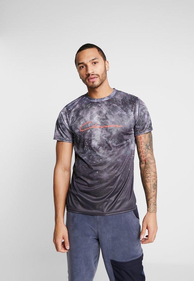 SMOKE SCRIPT TEE - Print T-shirt - black