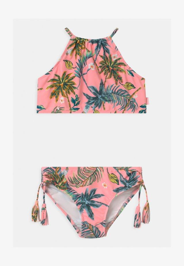 TROPI FUSION RUCHED NECK SET - Bikini - neon pink