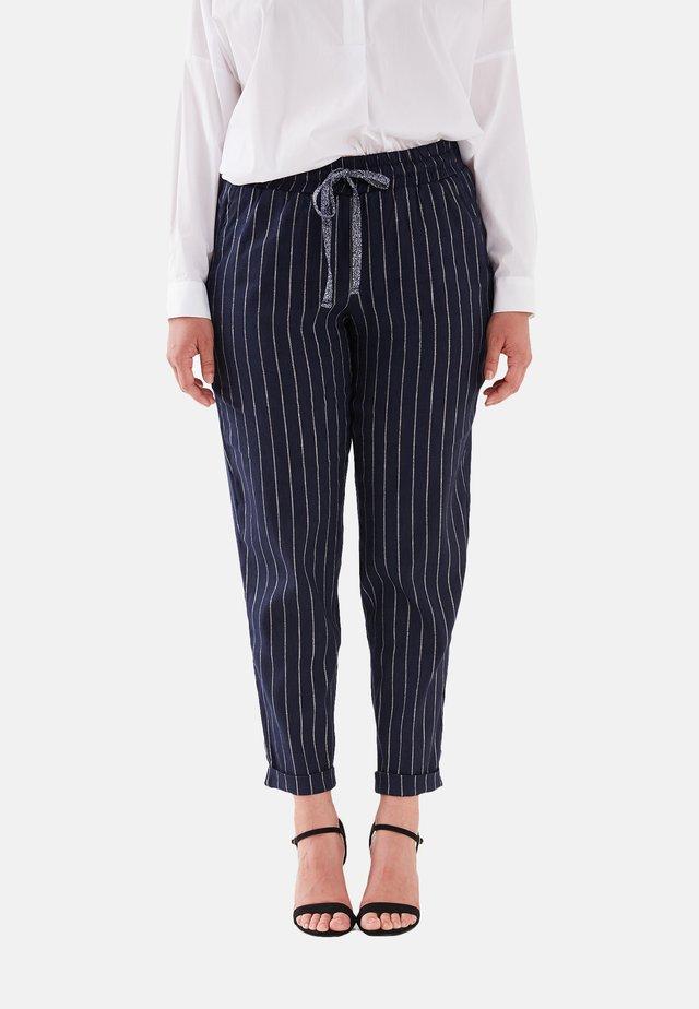 MIT NADELSTREIFEN - Pantaloni - blu