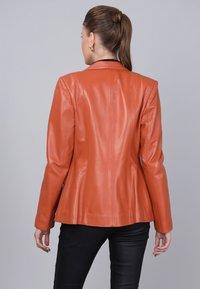 Basics and More - Leather jacket - orange - 1
