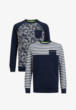 2-PACK - Long sleeved top - dark blue