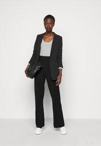 YAS Tall - YASFIBA PANTS  - Trousers - black - 1