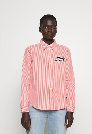 Boss x Russell Athletic BEMANEW STRIPED LOGO - Button-down blouse - orange