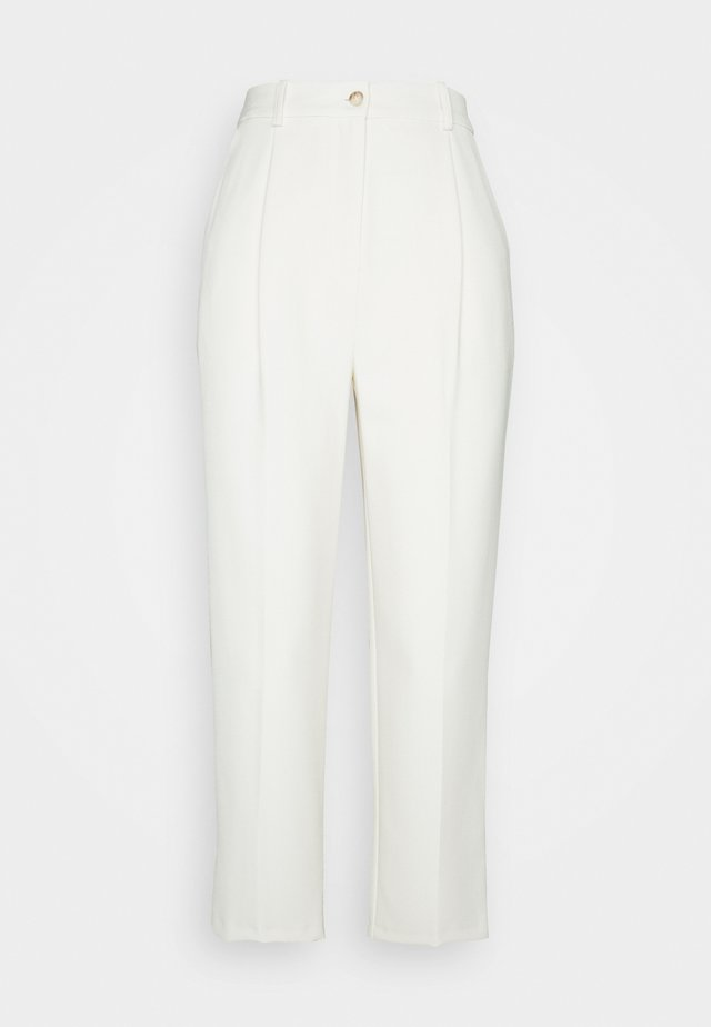 CLEAN STRAIGHT TROUSERS - Tygbyxor - ivory