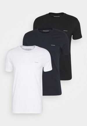 3 PACK TEE - Basic T-shirt - night sky/ black /bright white