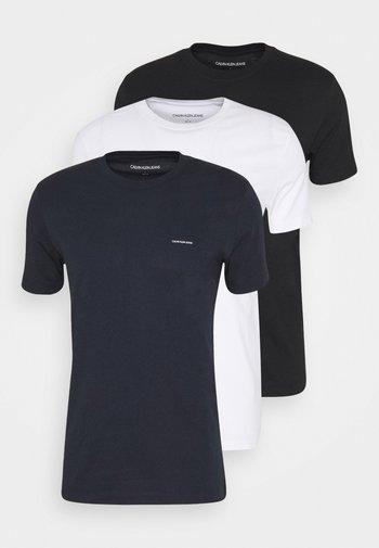 3 PACK SLIM TEE - Basic T-shirt - night sky/ black /bright white