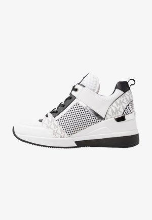 GEORGIE TRAINER - Sneakers basse - bright white/metallic