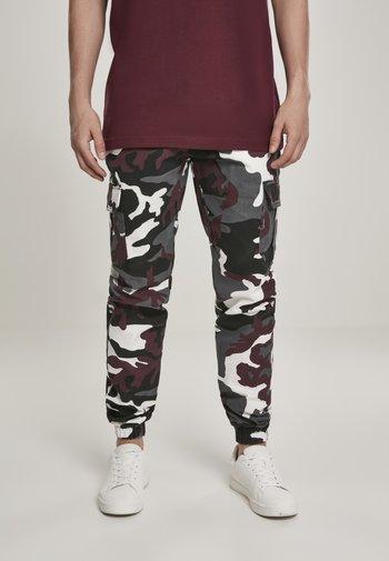 Cargo trousers - snow camo