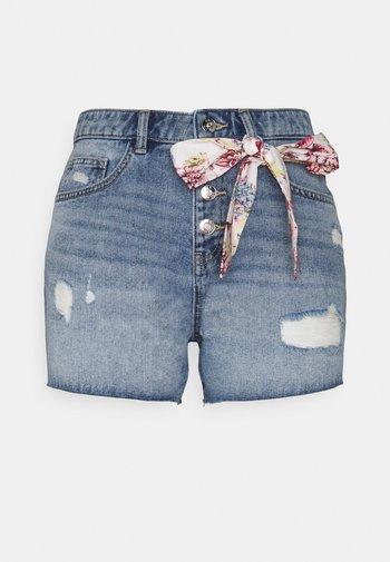 ONLPHINE LIFE DEST - Shorts di jeans - light blue denim