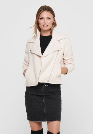 ONLASHA  - Faux leather jacket - pumice stone