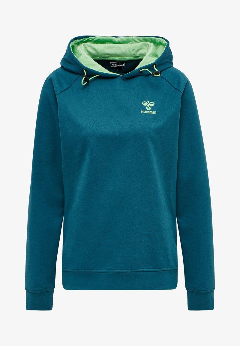 Hummel - Hoodie - blue coral/green ash