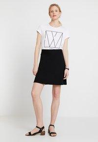 Esprit - BASIC SKIRT - A-line skirt - black - 1