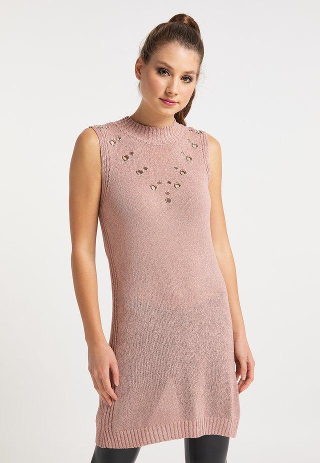 Gebreide jurk - nude