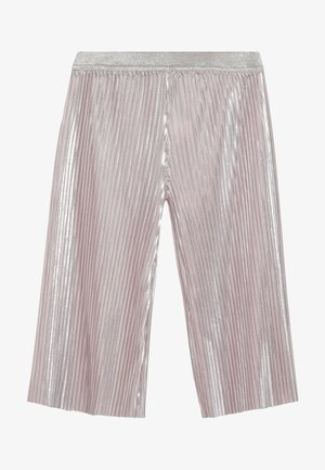 SHINY PLEATED TROUSERS - Trousers - pink pale