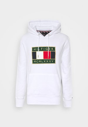 ICON BADGE HOODY - Felpa con cappuccio - white