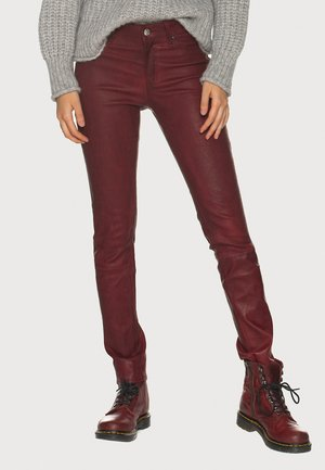 PANT  - Leather trousers - red