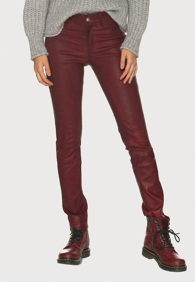 Leather trousers - red