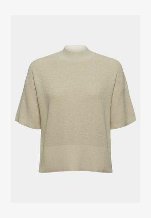 MIT KURZEN ÄRMELN - Basic T-shirt - beige