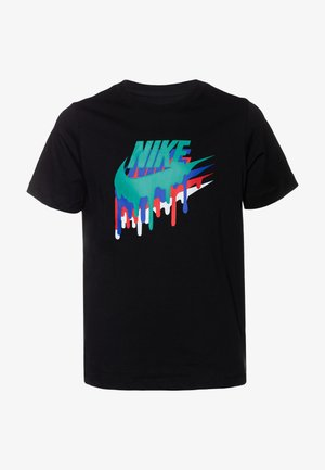 MELTED CRAYON - T-shirt con stampa - black