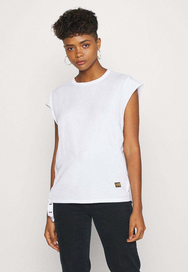 G-Star - GSRAW GYRE KNOT CAP - Print T-shirt - white