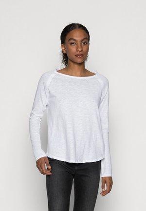 ORGANIC HEAVY LONGSLEEVE - Long sleeved top - white