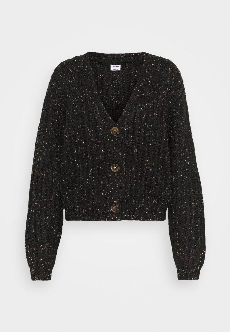 Cotton On - MULTI CROPPED CARDI - Cardigan - black multi