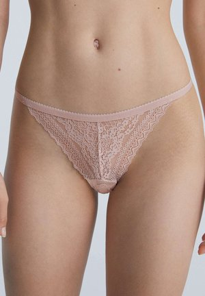 FLORAL GEOMETRIC LACE - Onderbroeken - light pink