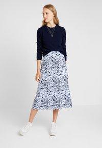 KIOMI - Maxi skirt - light blue/dark blue - 1