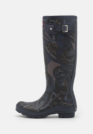 BUTTERFLY CAMO PRINT TALL VEGAN - Wellies - navy