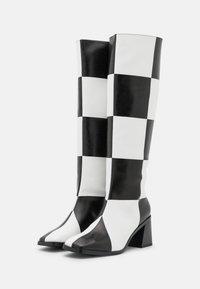 Monki - POLLY BOOT VEGAN - Boots - white light - 2