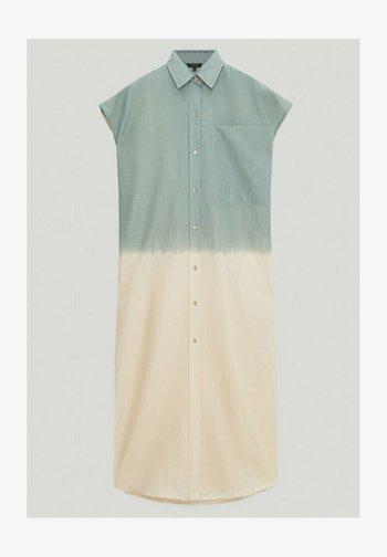 Shirt dress - turquoise