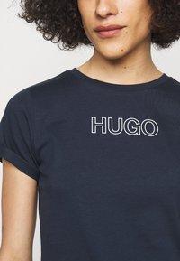 HUGO - THE SLIM TEE - Print T-shirt - open blue - 4