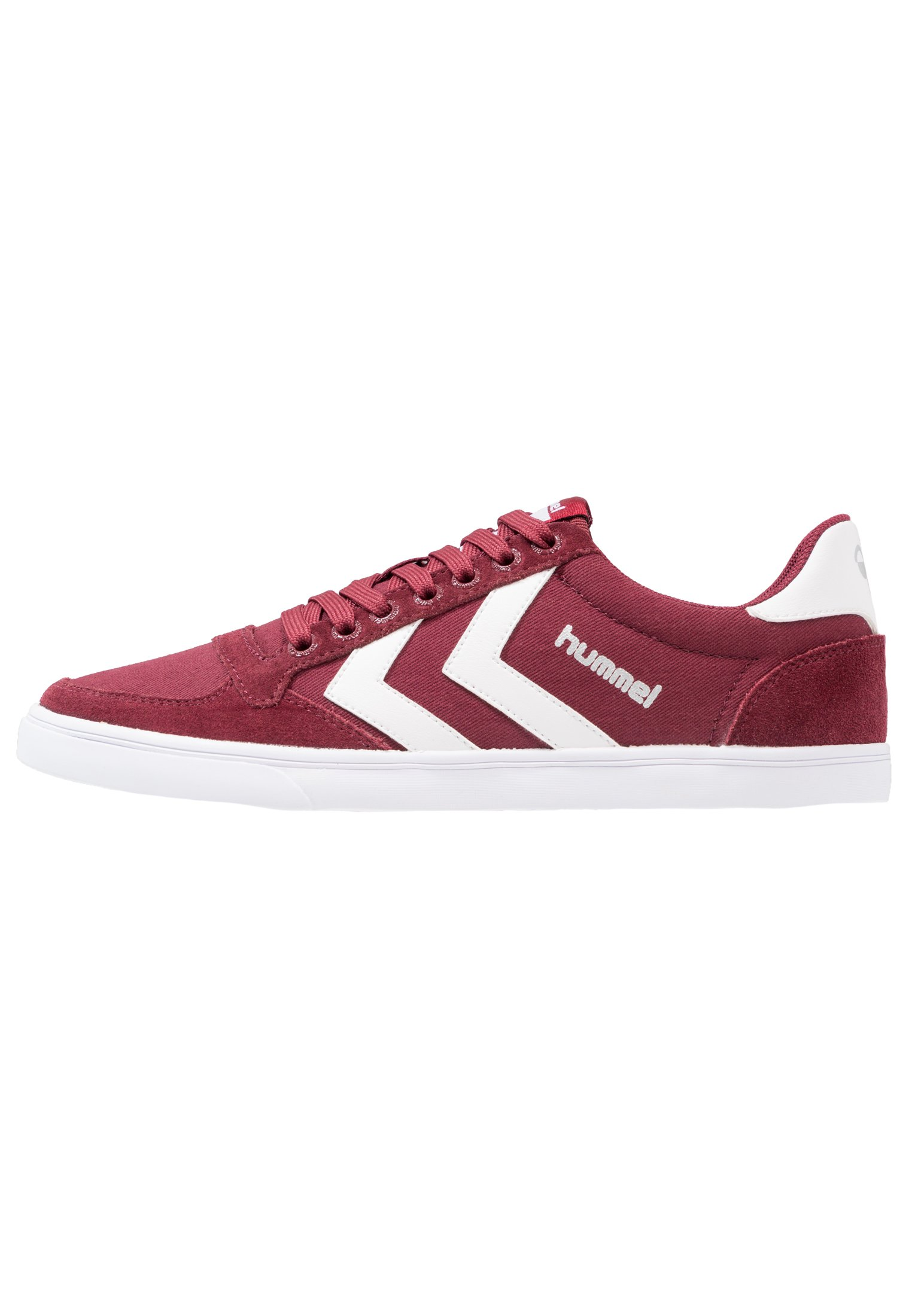 Hummel SLIMMER STADIL LOW Joggesko bordeauxweiß