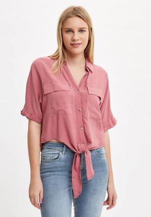 Button-down blouse - purple