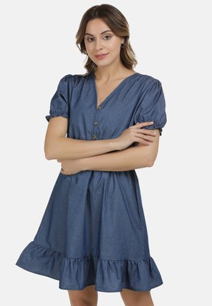 DREIMASTER KLEID - Denim dress - marine