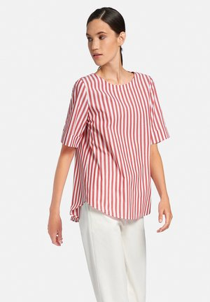 Blouse - weiß/rot