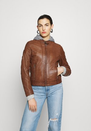 TALIDA - Leather jacket - cognac