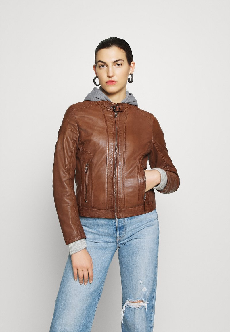Gipsy - TALIDA - Leather jacket - cognac