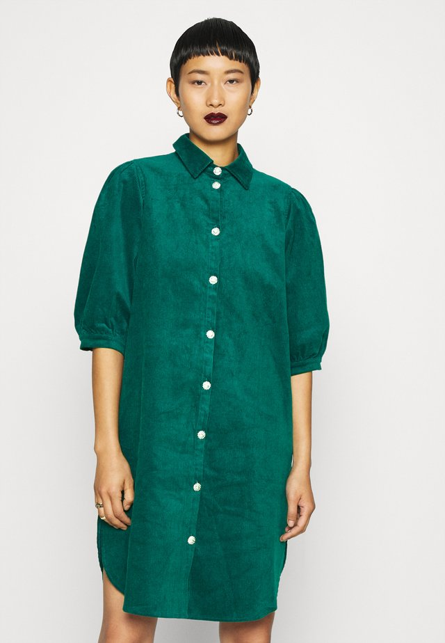 APPLE DRESS - Shirt dress - ocean green