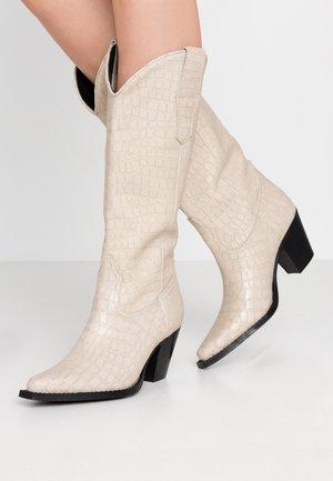 Cowboy/Biker boots - offwhite