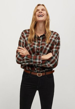 BECKY - Button-down blouse - marrón