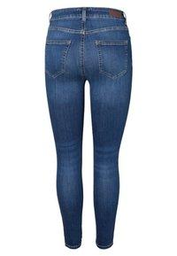 Pieces - Slim fit jeans - medium blue denim - 1