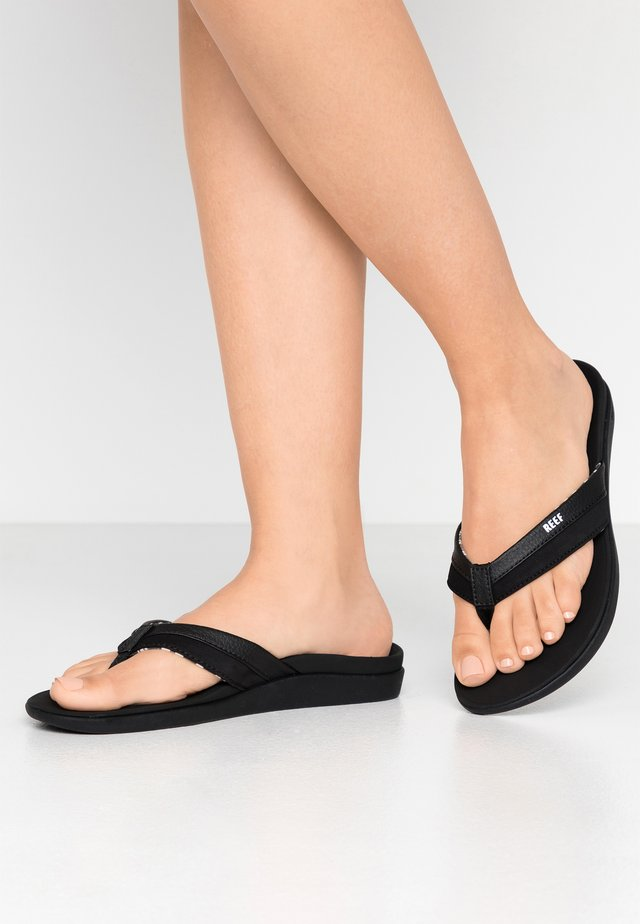 ORTHO BOUNCE COAST - Sandalias de dedo - black