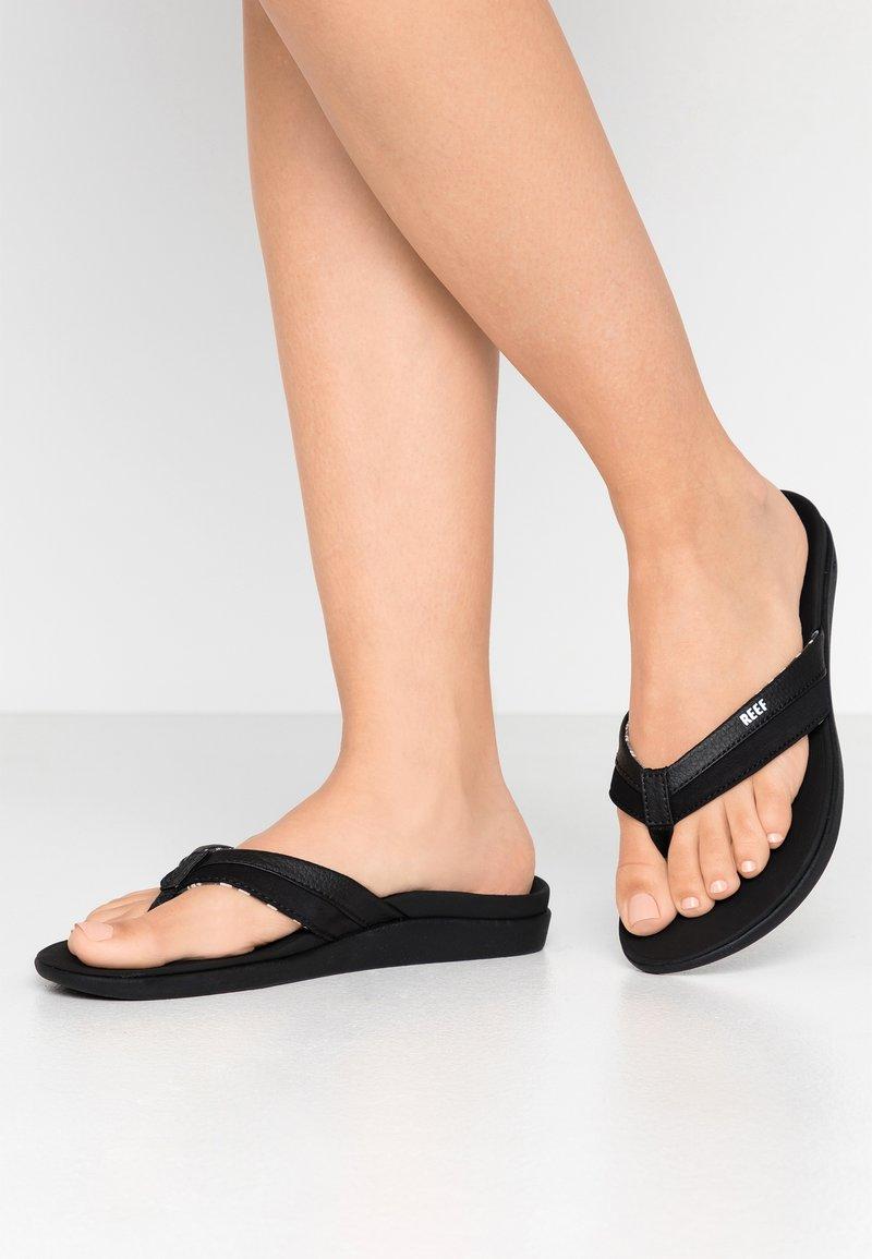 Reef - ORTHO BOUNCE COAST - Sandály s odděleným palcem - black
