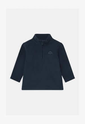 CREW NECK HALF ZIP - Fleece jumper - navy blue