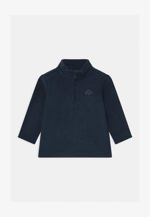 CREW NECK HALF ZIP - Sweat polaire - navy blue