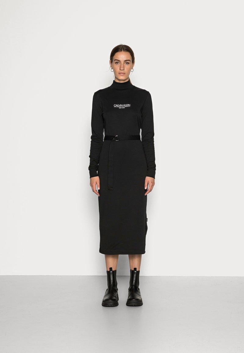 Calvin Klein - NEW YORK ESSENTIAL DRESS - Jersey dress - black