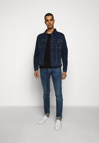7 for all mankind - RONNIE OFFICER - Džíny Slim Fit - mid blue - 1